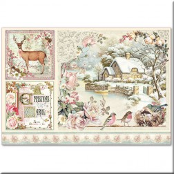 Papel de Arroz Sweet Christmas Landscape Stamperia (48x33)