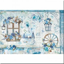 Papel de Arroz Blue Land Stamperia (48x33)