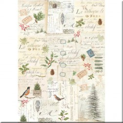 Papel de Arroz Winter Botanic Stamperia (A3)