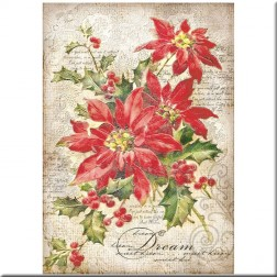 Papel de Arroz Poinsettia Stamperia (A4)