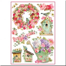 Papel de Arroz Rose Garden Stamperia (A4)