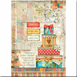 Papel de Arroz Regalos Patchwork Stamperia (A4)