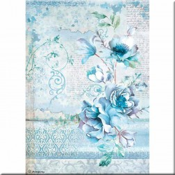 Papel de Arroz Flores Blue Land Stamperia (A4)