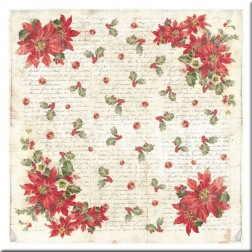 Papel de Arroz Poinsettia Stamperia (50x50)