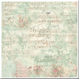 Papel de Arroz Sweet Christmas Music & Sparrow Stamperia (50x50)