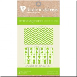 Carpetas Embossing Arrow and Mix Stripe Diamond Press