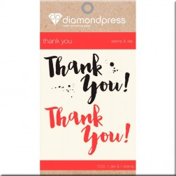 Set Troquel y Sello Thank You Diamond Press