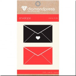 Set Troquel y Sello Envelope Diamond Press