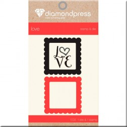 Set Troquel y Sello Love Diamond Press