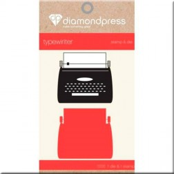 Set Troquel y Sello Typewriter Diamond Press