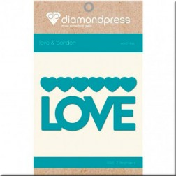 Troqueles Love and Hearts Diamond Press