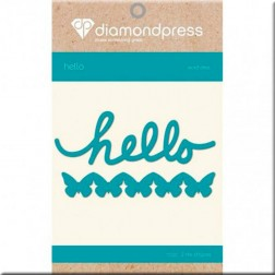 Troqueles Hello and Butterflies Diamond Press