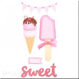 Adhesivos 3D con Glitter Sweet Baby