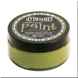 Dylusions Paint Chopped Pesto