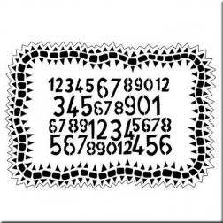 Plantilla Estarcido Number Jumble Dylusions.(13 x 20 cm)