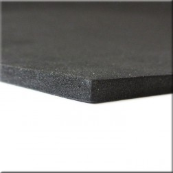 Plancha de goma eva de 10 mm color negro (9,5 cm x 1 mt)