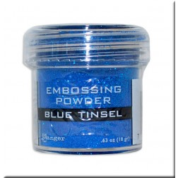 Polvo Embossing - Blue Tinsel