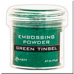 Polvo Embossing - Green Tinsel