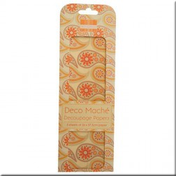 Papeles Decoupage Orange Paisley