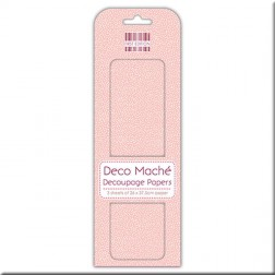 Papel Deco Maché Peach Polka