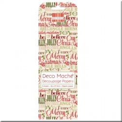 Papel Deco Maché - Xmas Words