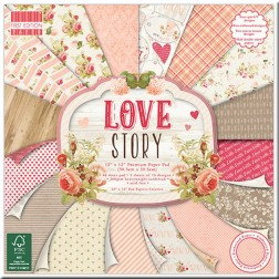 Papel Scrapbooking - Love Story (30 x 30)