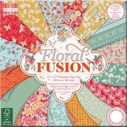 Papeles Scrapbooking Floral Fusion (30x30)
