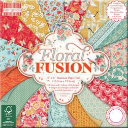 Papeles Scrapbooking Floral Fusion (15x15)