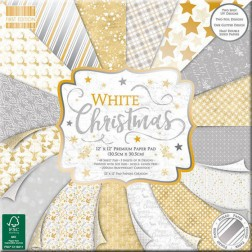 Papeles Scrapbooking White Christmas (30x30)