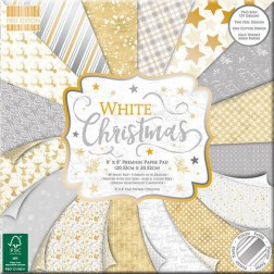 Papeles Scrapbooking White Christmas (20x20)