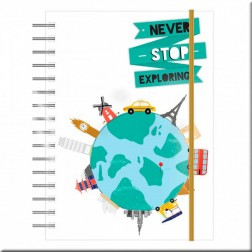 Travel Planner Never Stop Exploring (Viajes) de First Edition