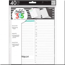 Create 365 Insertos para Planner Mediano White Daily
