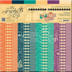 Papeles Scrap Estampados Midnight Masquerade (30x30)