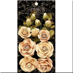 Flores Classic Ivory y Natural Linen Rose Bouquet Collection