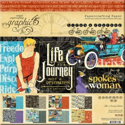 Papeles Scrapbooking Life's a Journey (20x20)