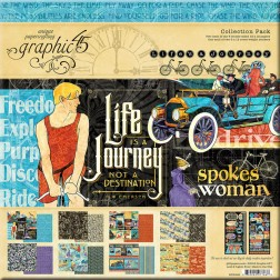 Papeles Scrapbooking Life's a Journey (30x30)