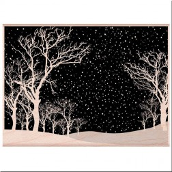 Sello de Madera Snowy Night