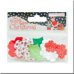 Flores y hojas de papel - The Night Before Christmas