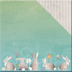 Papel Scrapbooking Hoppy Easter Cottomtail (30x30)