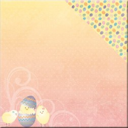 Papel Scrapbooking Hoppy Easter Chickadee (30x30)