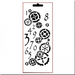 Plantilla Estarcido Counting Cogs Imagination Crafts (25x10cm)