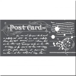 Plantilla Estarcido Post Card Stamperia (12x25 cm)