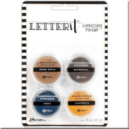 Set Polvos Embossing Metalizados Letter It Ranger