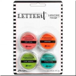 Set Polvos Embossing Brillantes Letter It Ranger