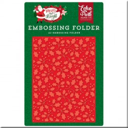 Carpeta de Embossing Acebo Merry And Bright