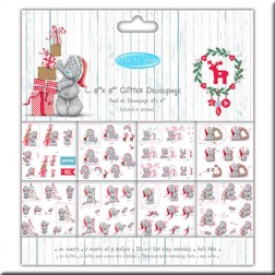 Block papeles precortados Glitter - Me to You Christmas