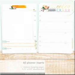 "Color Crush Insertos ""Memory Keeping"" para Planner A5"