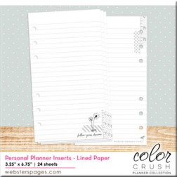 "Color Crush Insertos ""Lines"" para Planner Personal"