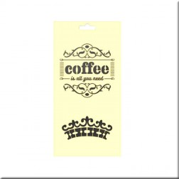 Plantilla Estarcido Coffee (25 x 12,5 cm)