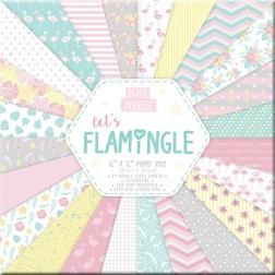 Papeles Scrapbooking Let's Flamingle (30x30)